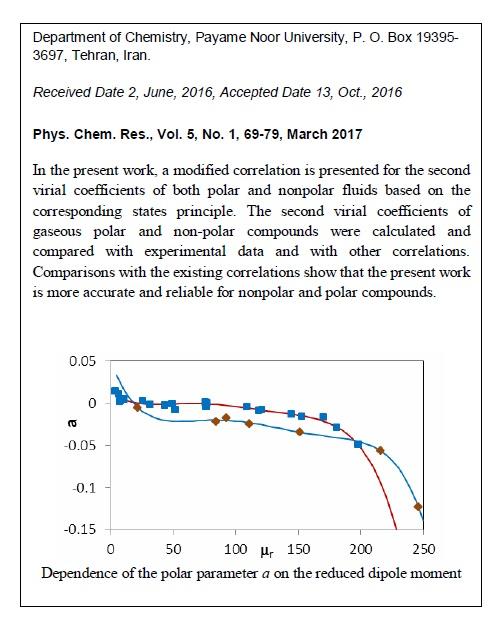 An Improved Correlation for Second Virial Coefficients of Pure Fluids