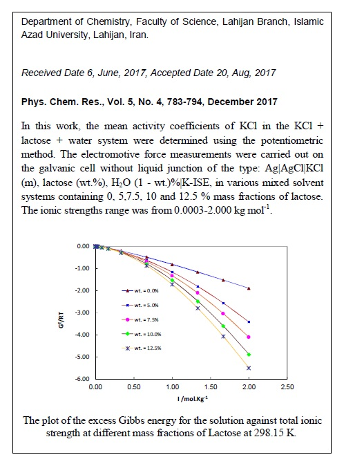 Mean Activity Coefficients Measurements and Thermodynamic Modeling of the Ternary Mixed Electrolyte KCl + Lactose + Water System at T = 298.15 K