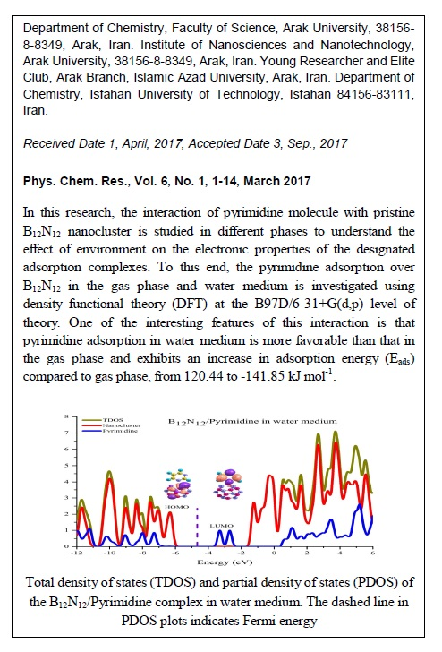 Chemisorption of Pyrimidine Nucleotide Onto Exterior Surface of Pristine B12N12 Nanocluster: A Theoretical Study