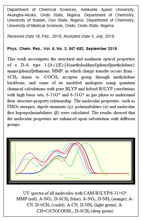 Substituent Effects on the Structural and Nonlinear Optical Properties of 1-[4-({(E)-[4-(methylsulfanyl)phenyl]methylidene}amino)phenyl]ethanone and Some of its Substituted Derivatives- a Theoretical Method