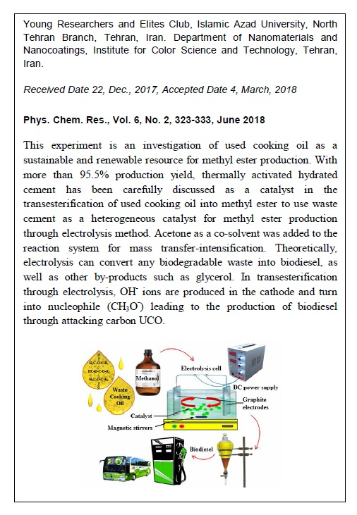 Evaluation of Methyl Ester Production Using Cement as a Heterogeneous Catalyst